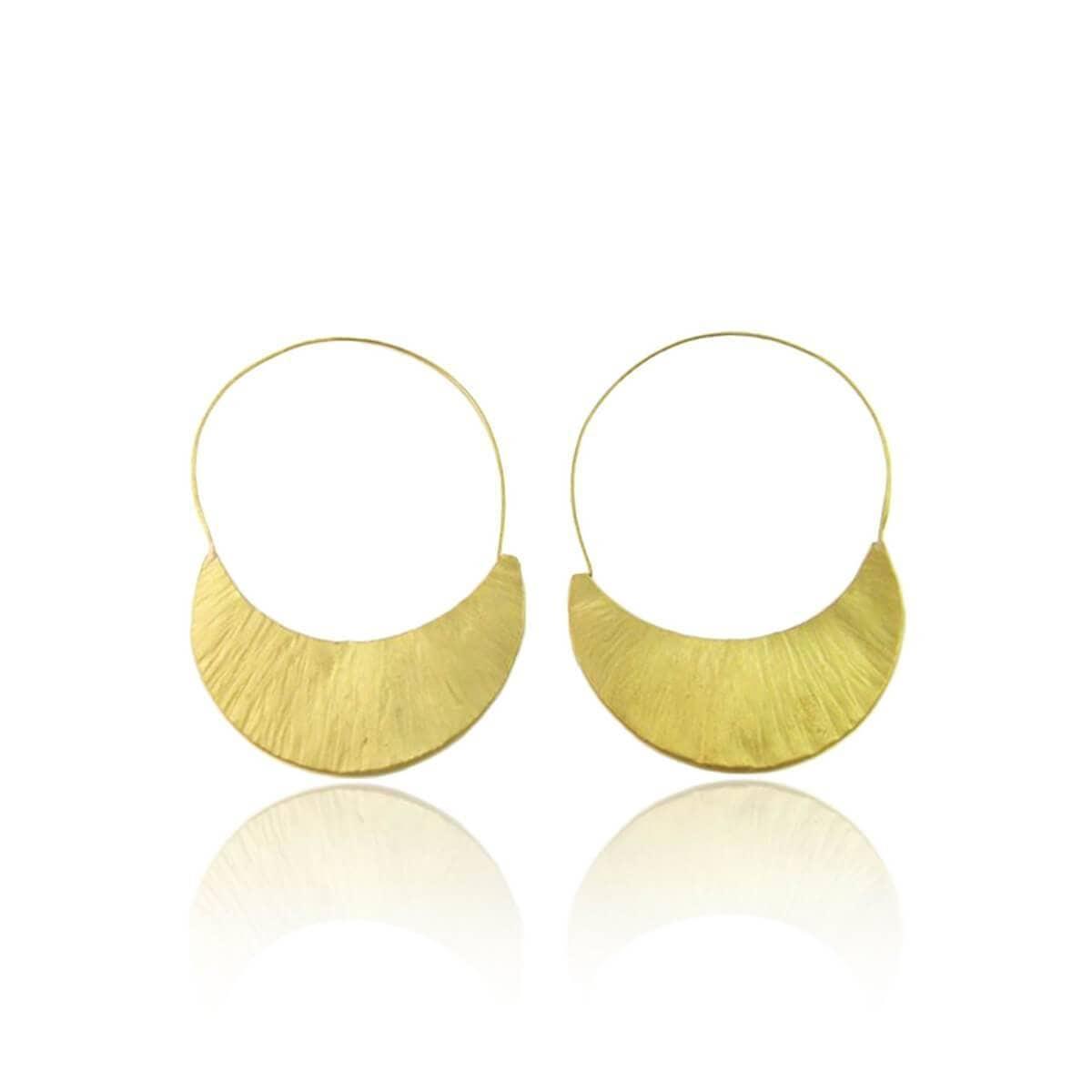 Plated Sterling Silver Moon Earrings