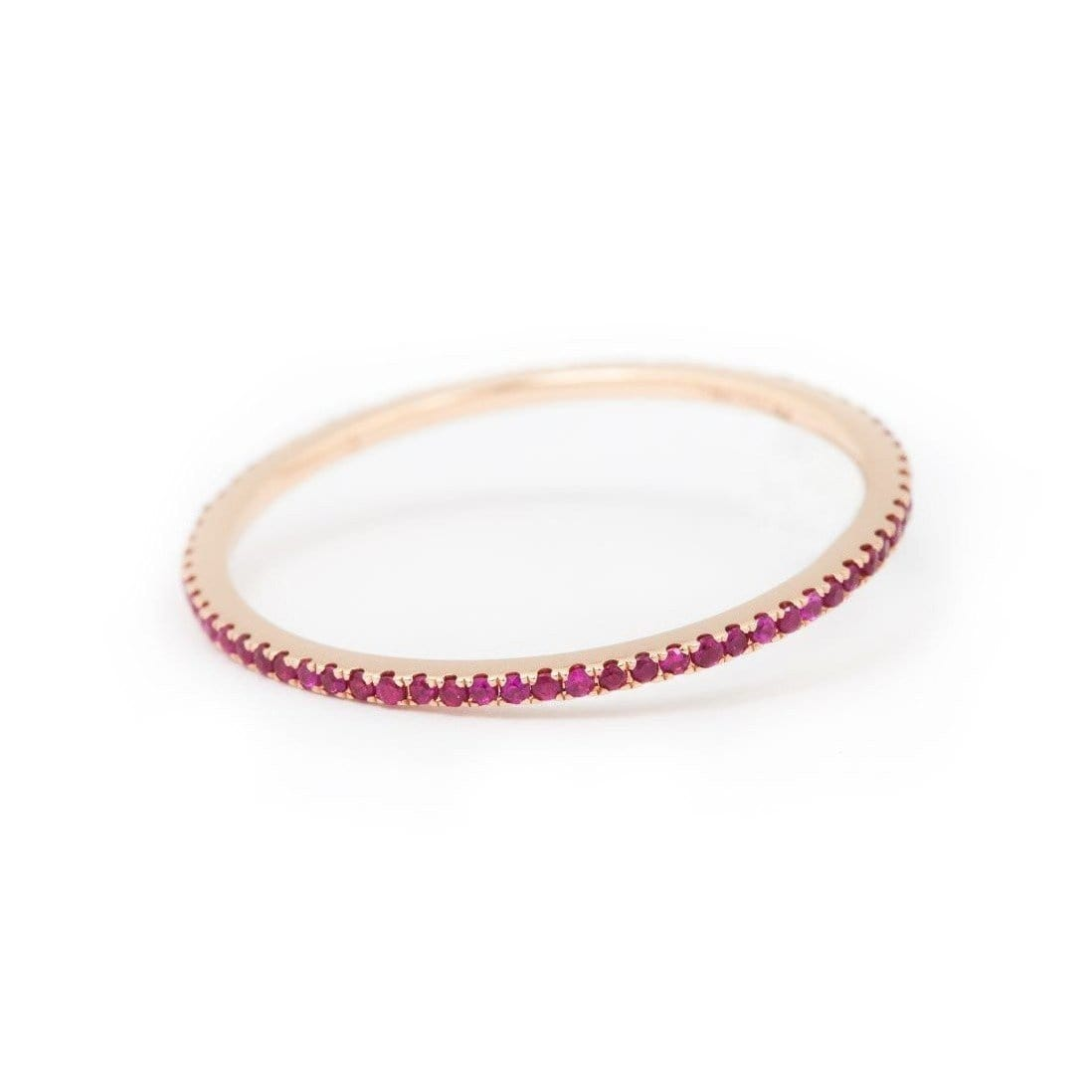 18kt Rose Gold Caresse Ruby Eternity Ring