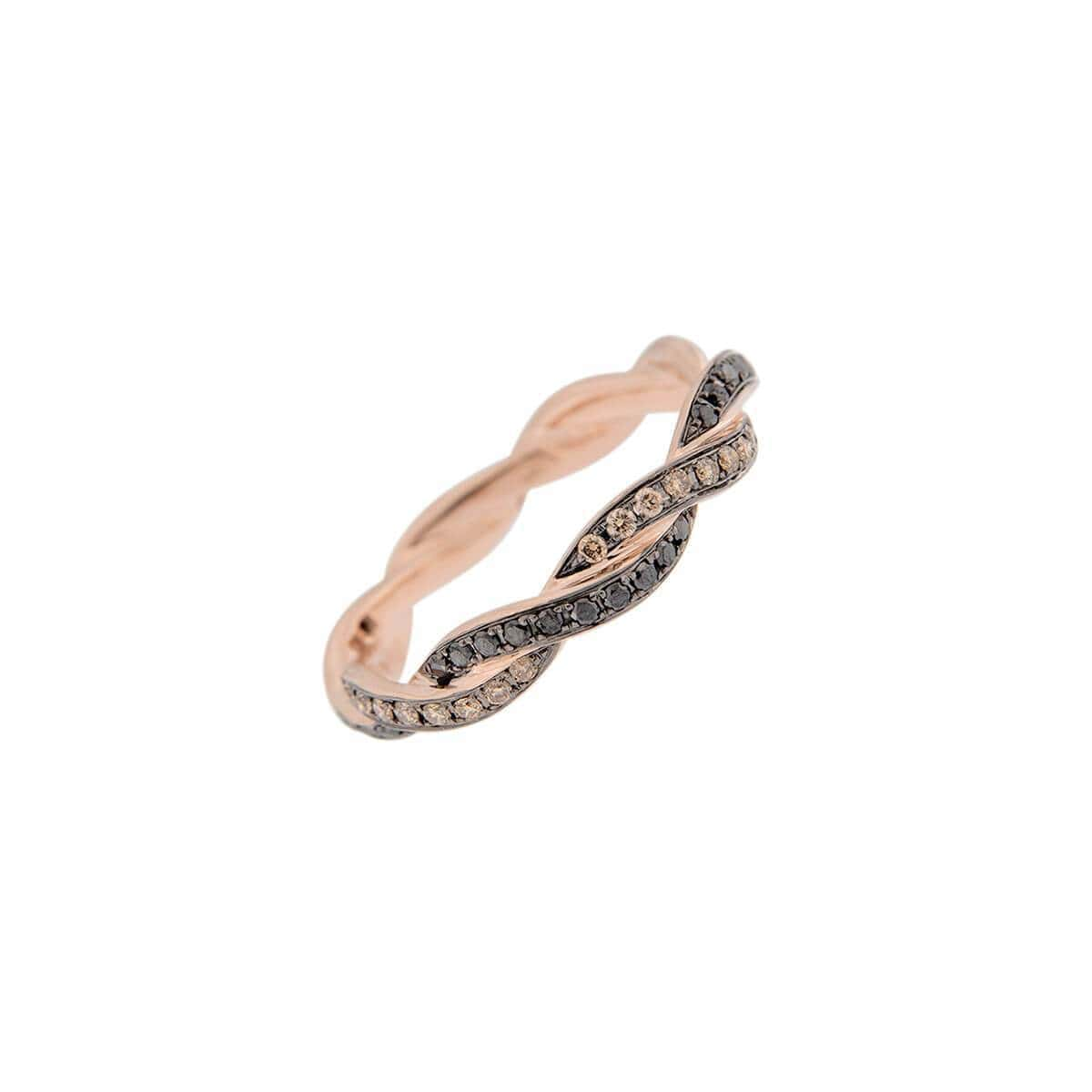 18kt Rose Gold Handcrafted Italian Eternity Band Ring