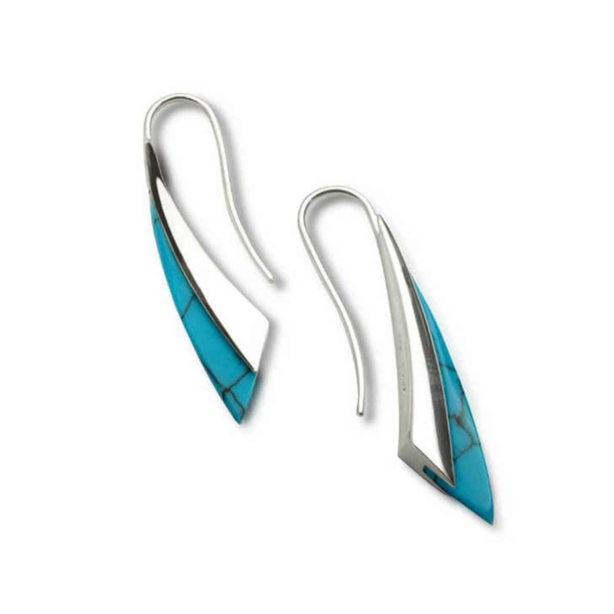 Silver & Turquoise Fluidity Earrings