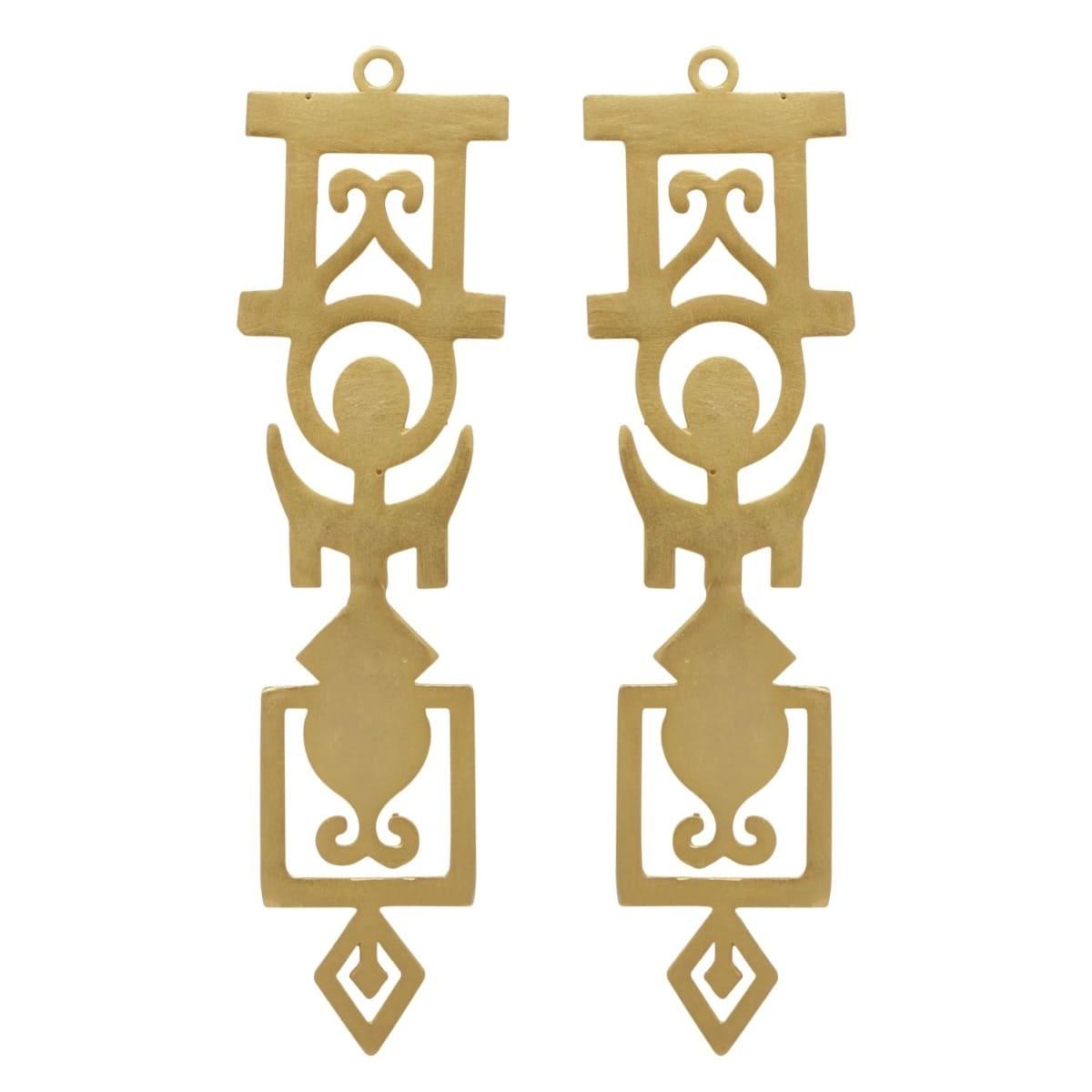 Intricate Geometric Statement Earrings