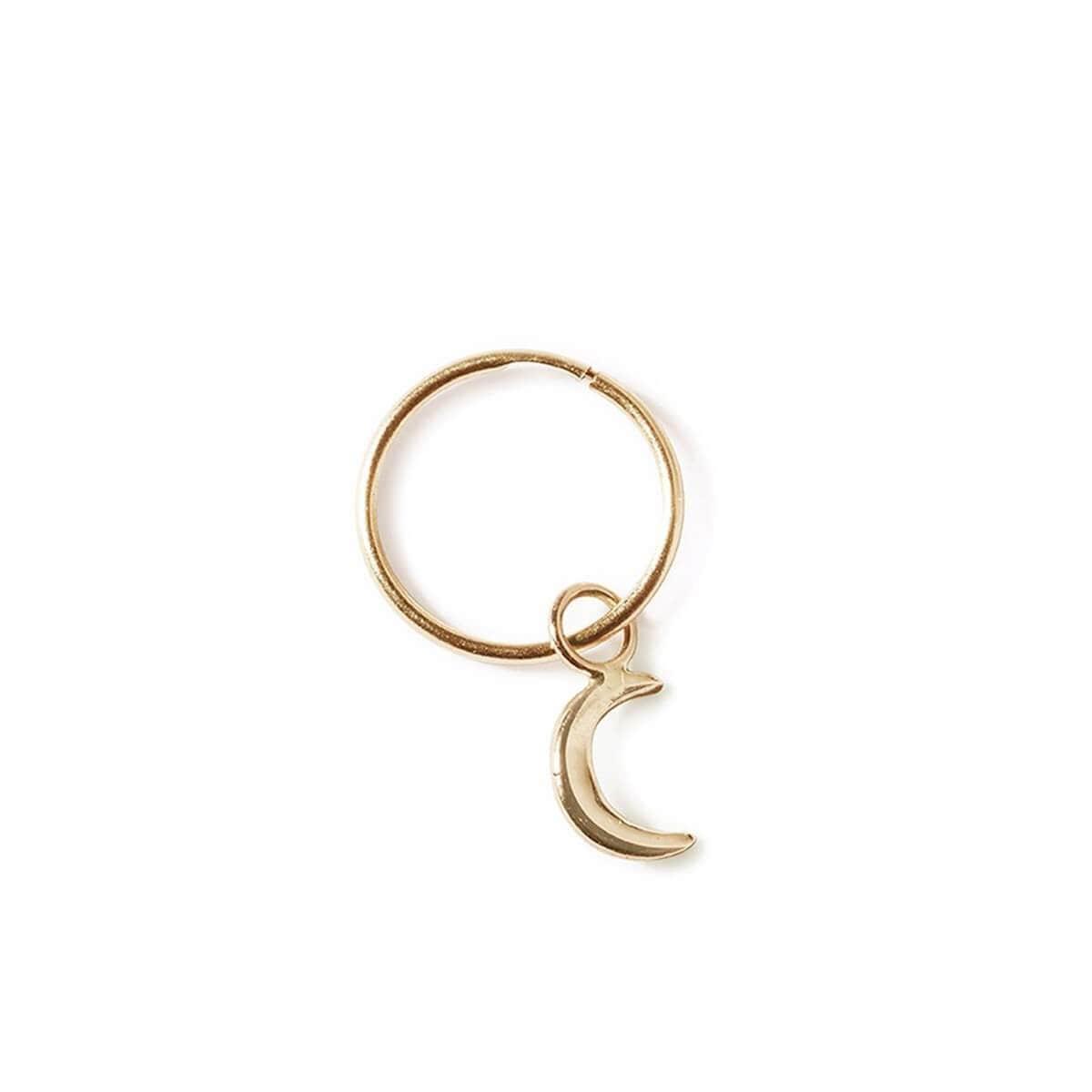 9kt Yellow Gold Moon Sleeper Earrings