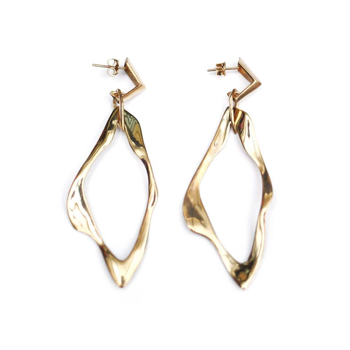 Yellow Gold Plated VIOLET Earrings