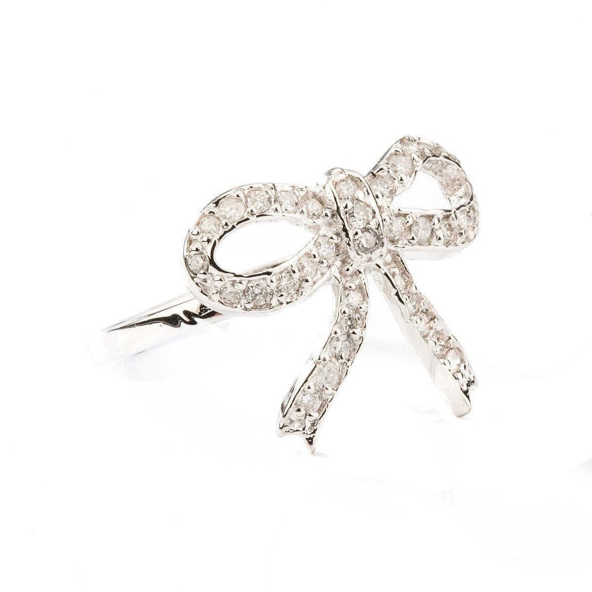 Diamond Mini Bow Ring