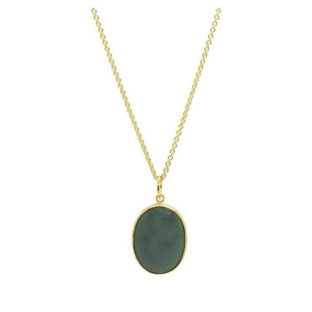 Gold and Moss Agate Victoriana Necklace