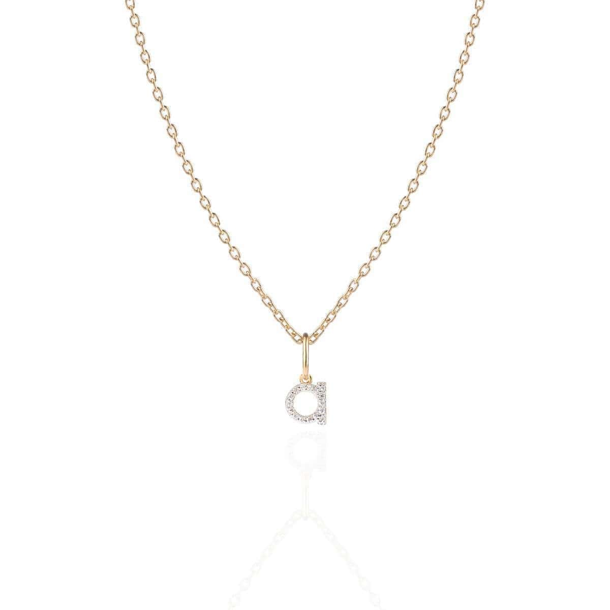 Monogram Mini Diamond Necklace Gold