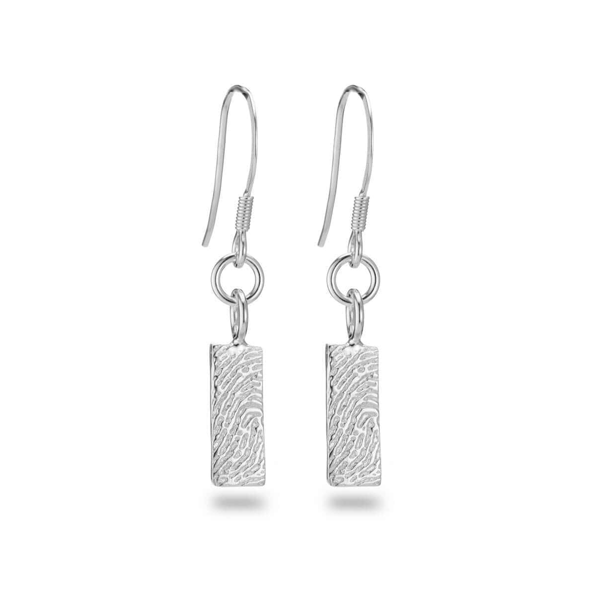 Sterling Silver Personalised Fingerprint Earrings