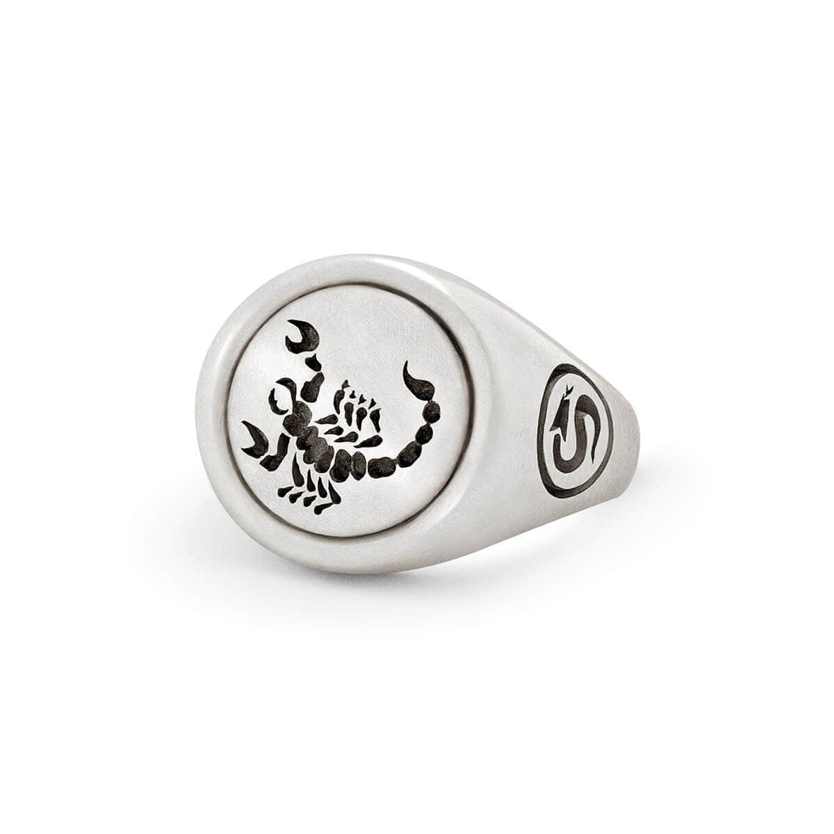 Sterling Silver Scorpion Signet Ring