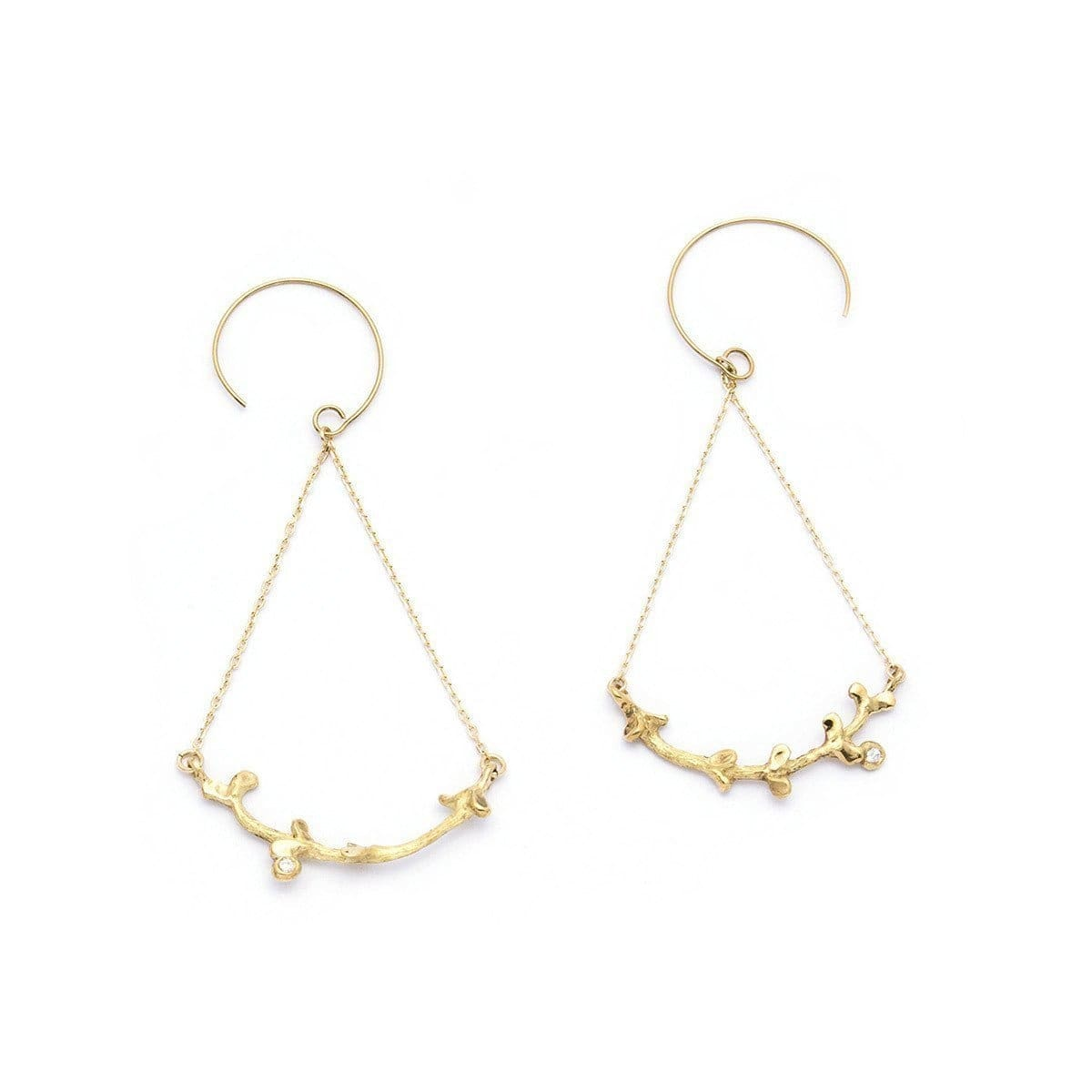 Gold & Diamond Garni Swing Earrings