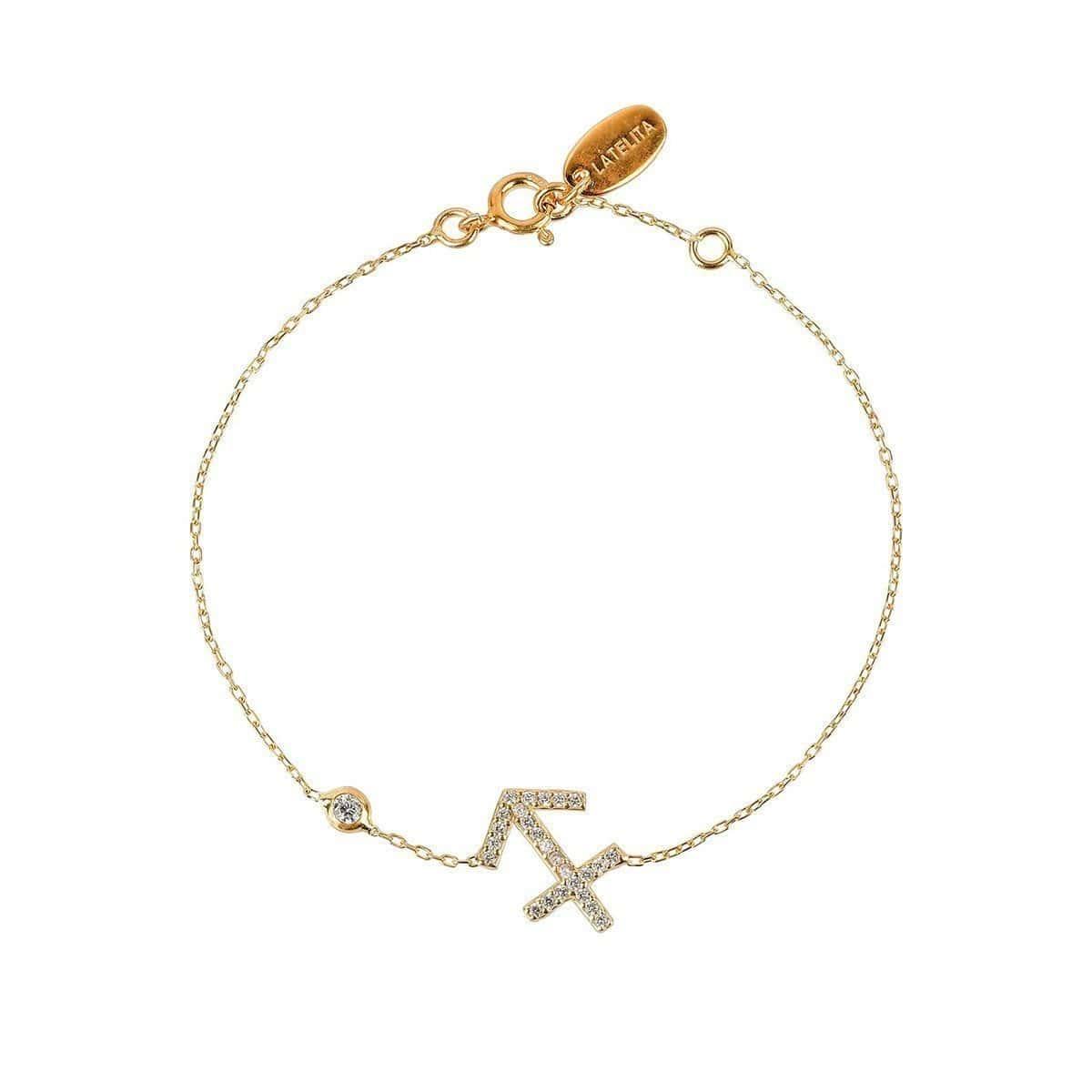 Sagittarius Zodiac Bracelet Gold