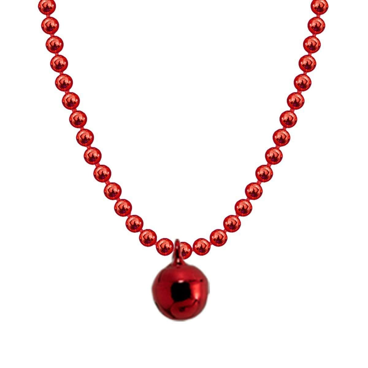Allumette Bell Necklace - Red