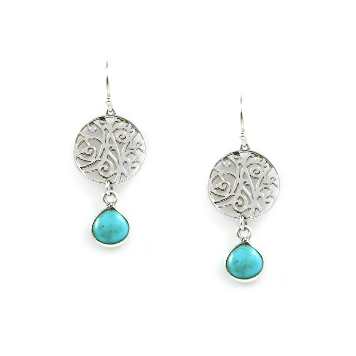 Earrings In Sterling Silver Turquoise