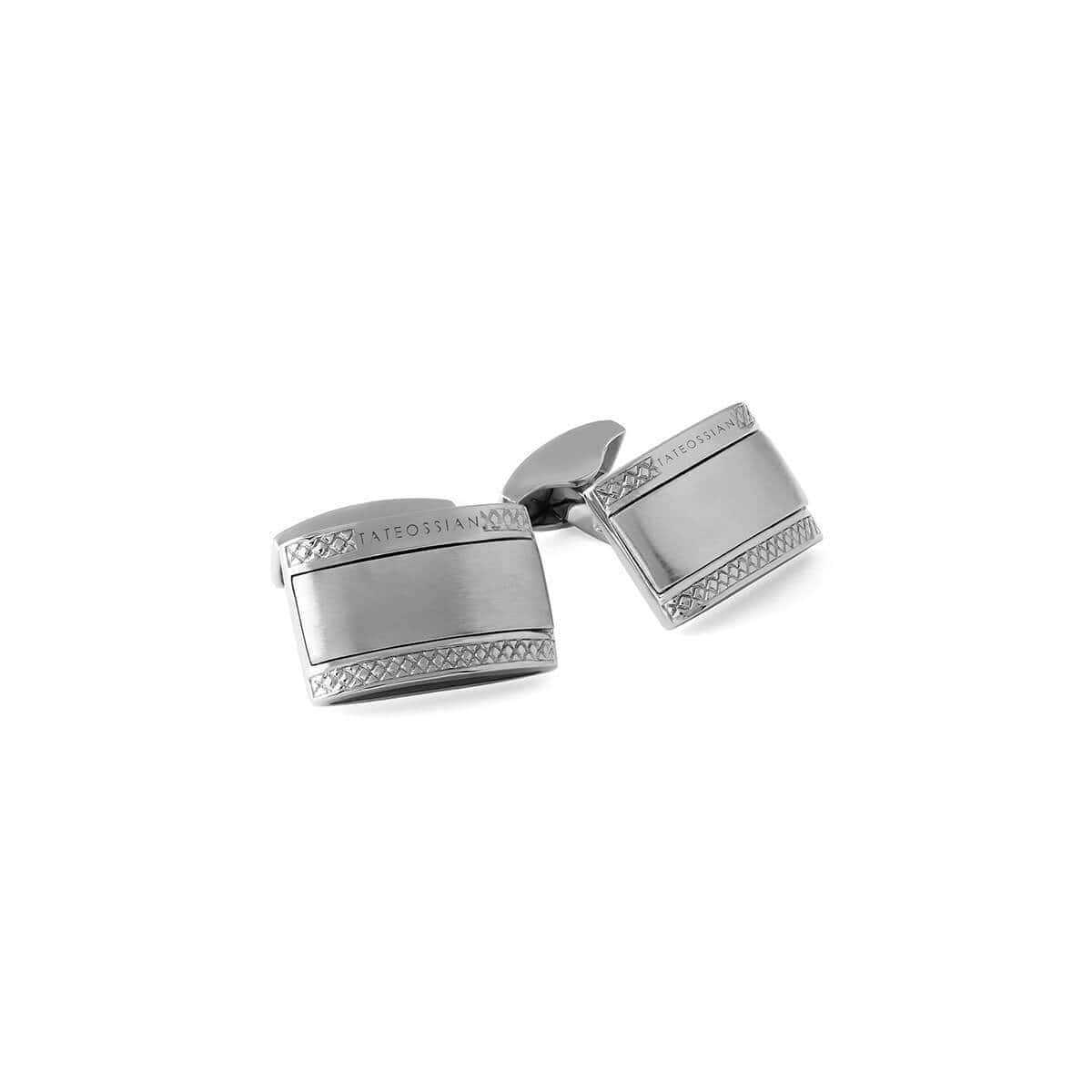 Signature Rectangle Cufflinks in Sterling Silver