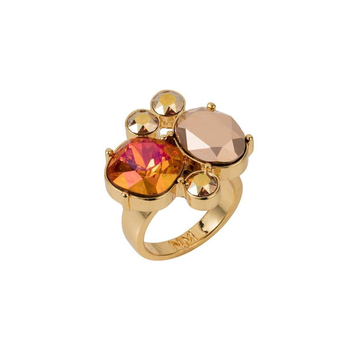 Yellow Gold Plated Magma Kate Cocktail Ring