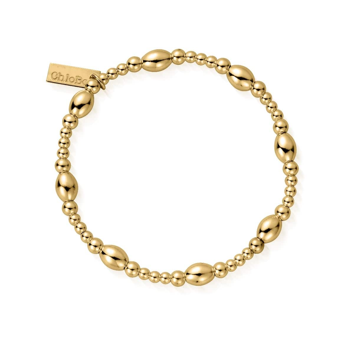 Gold Cute Oval Bracelet