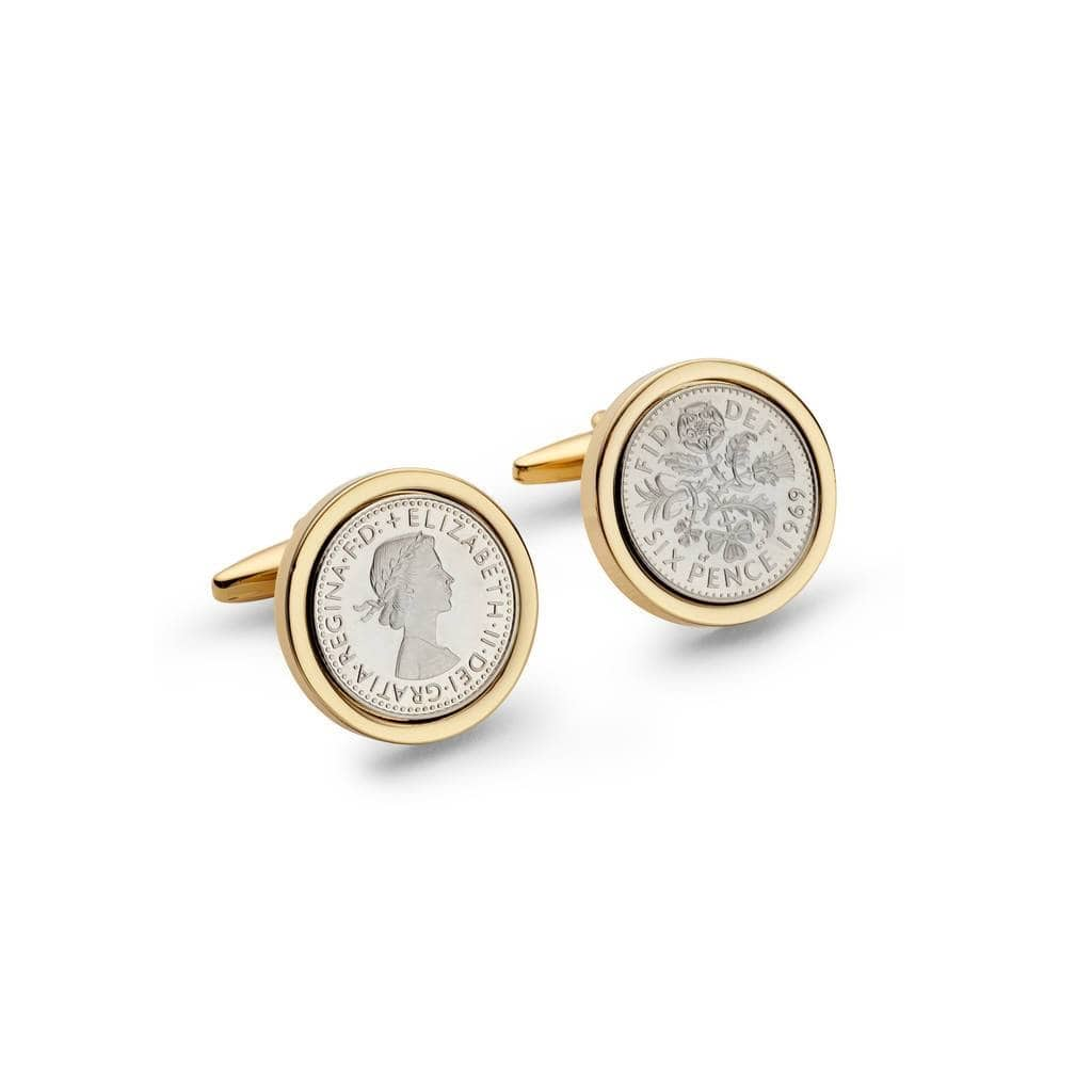 1969 Gold Edition Lucky Sixpence Cufflinks