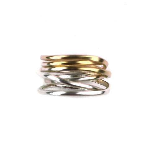Stacked ombre rings