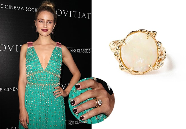Dianna Agron engagement ring
