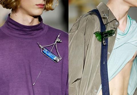 Runway brooches