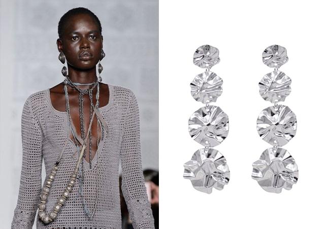 Metallic jewellery