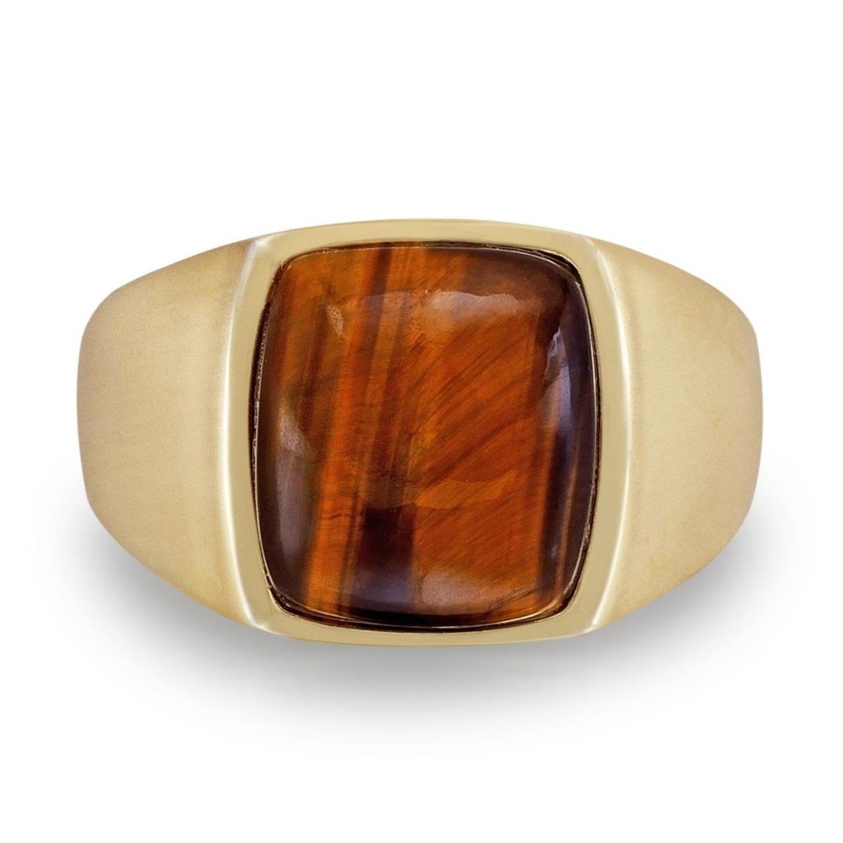 Gemstone signet ring