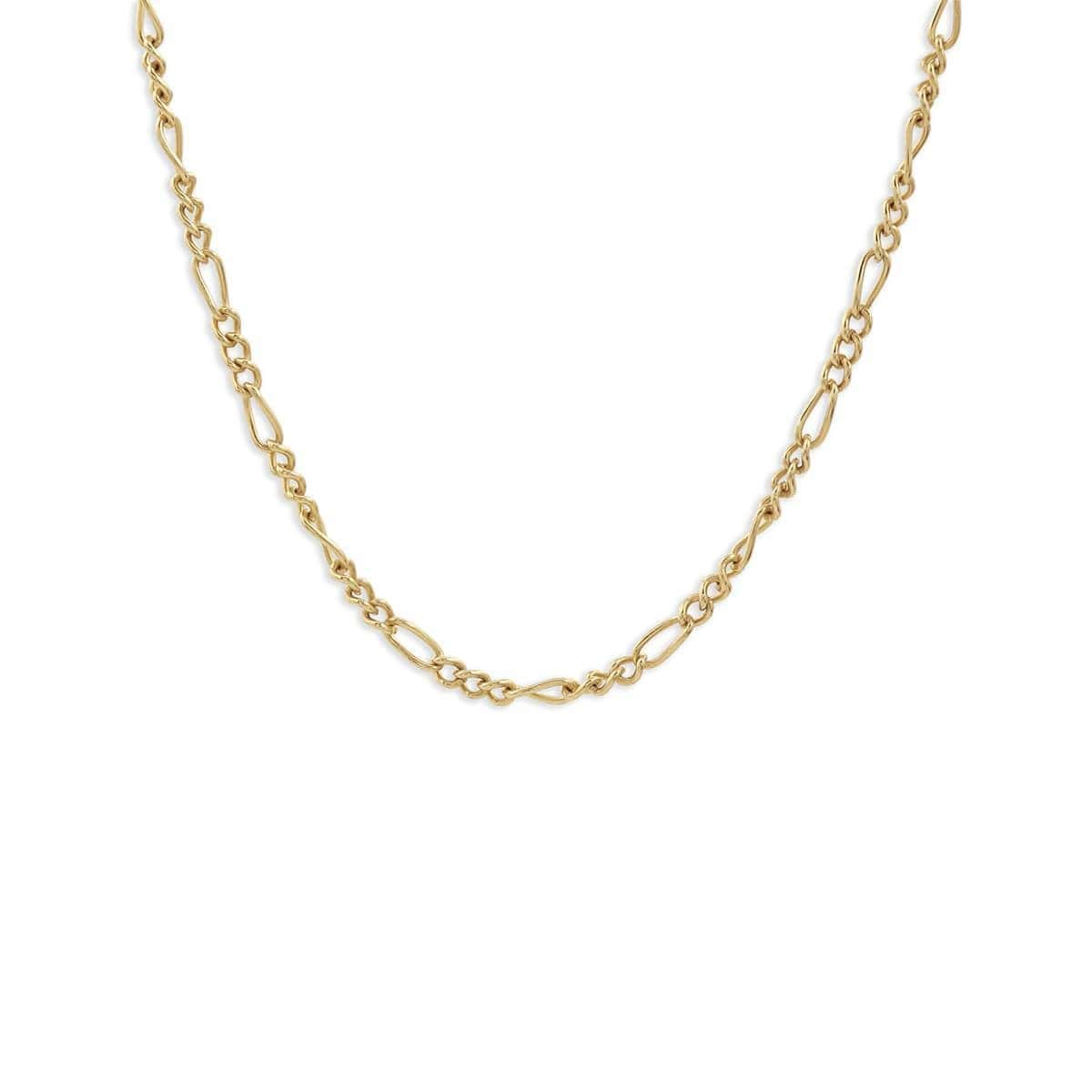 Yellow Gold Delicate Chain Choker Necklace