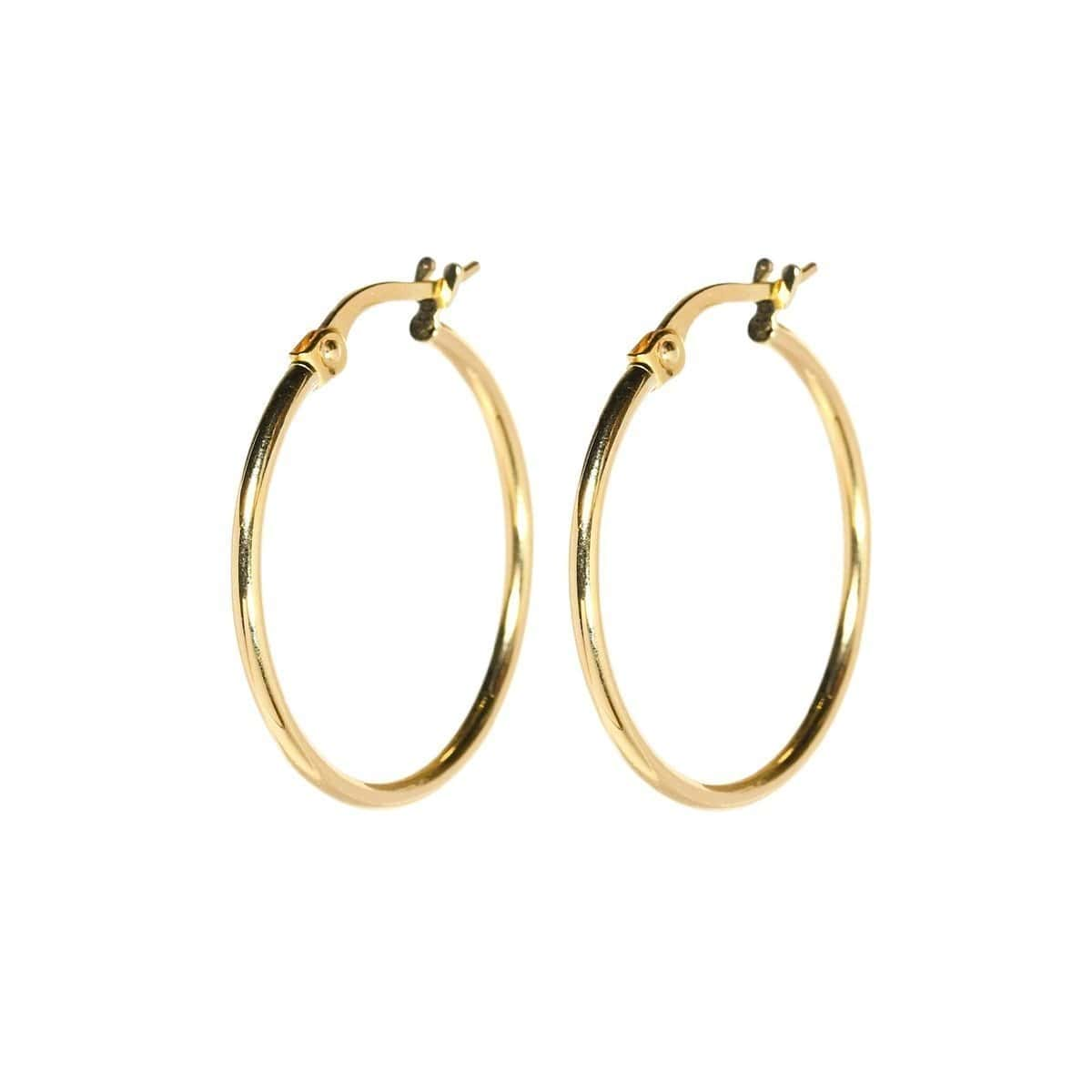 Everyday Medium Gold Hoops