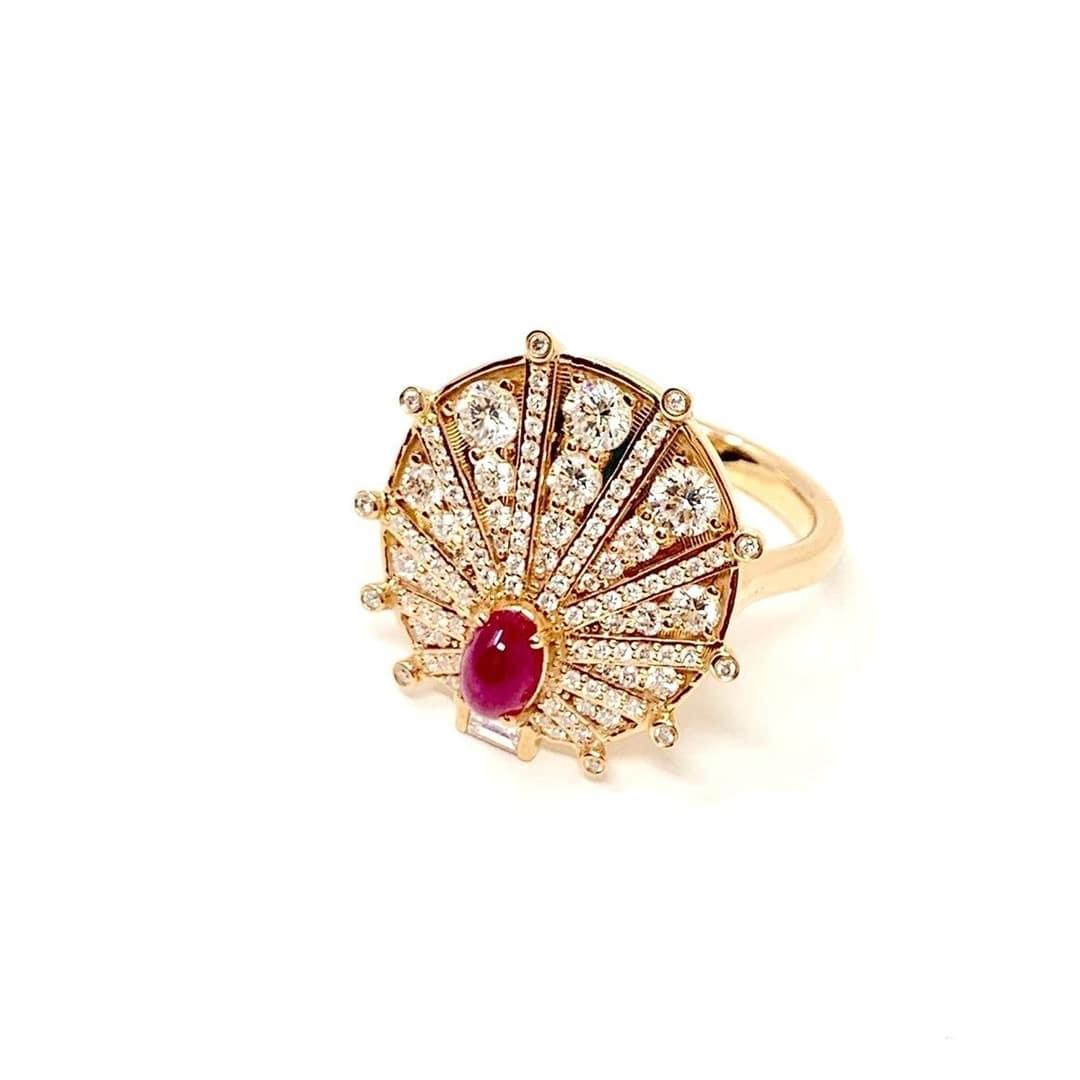 18kt Rose Gold Sunshine Ring