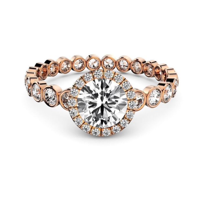 Rose Gold & Diamond Solitaire Ring
