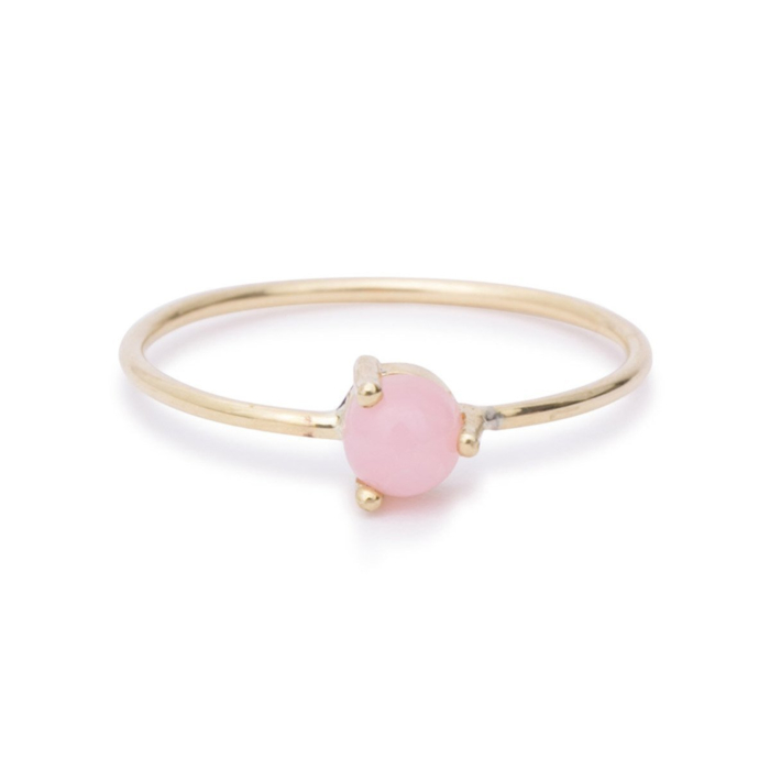 Rose Opal Solitaire Ring