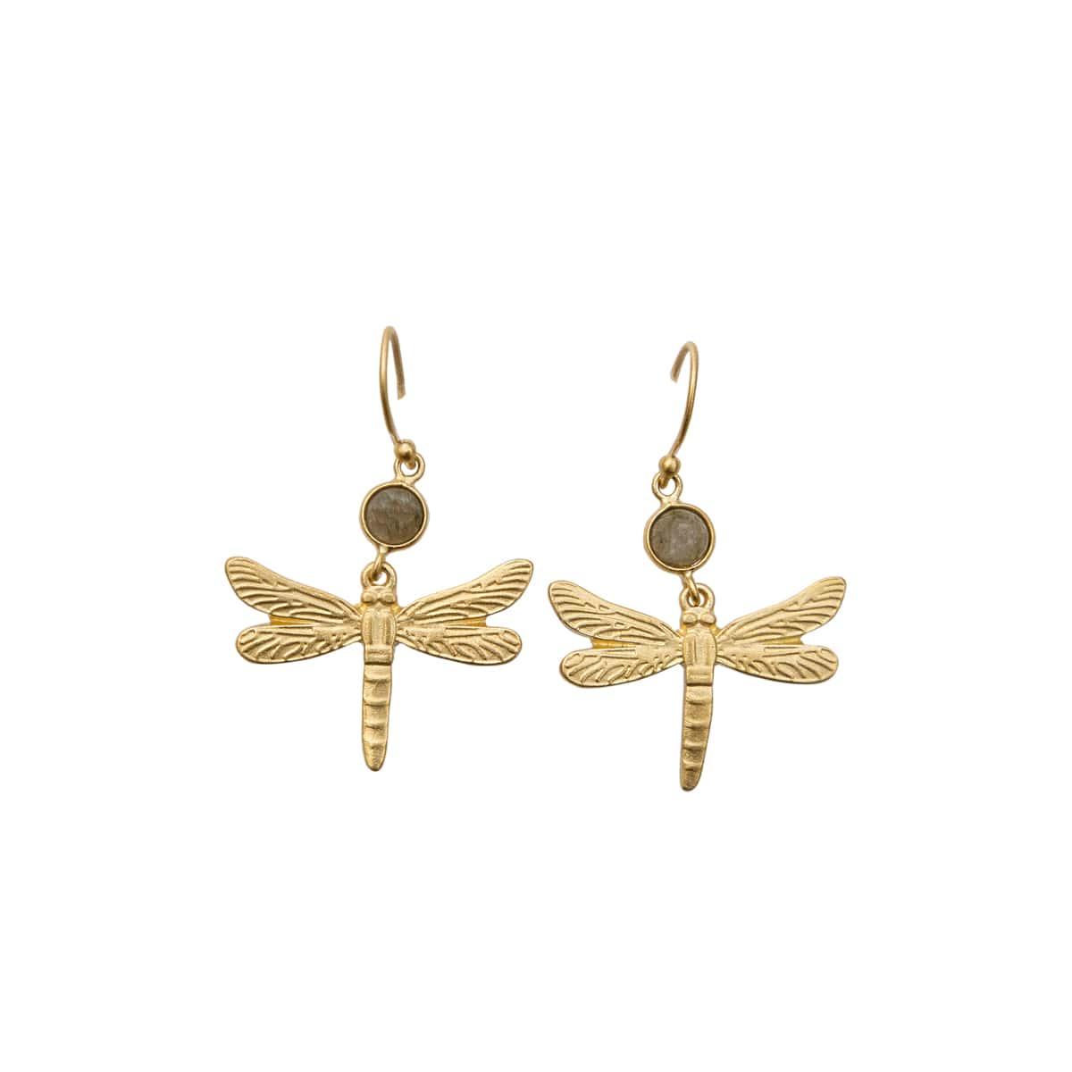 Labradorite Dragonfly Earrings