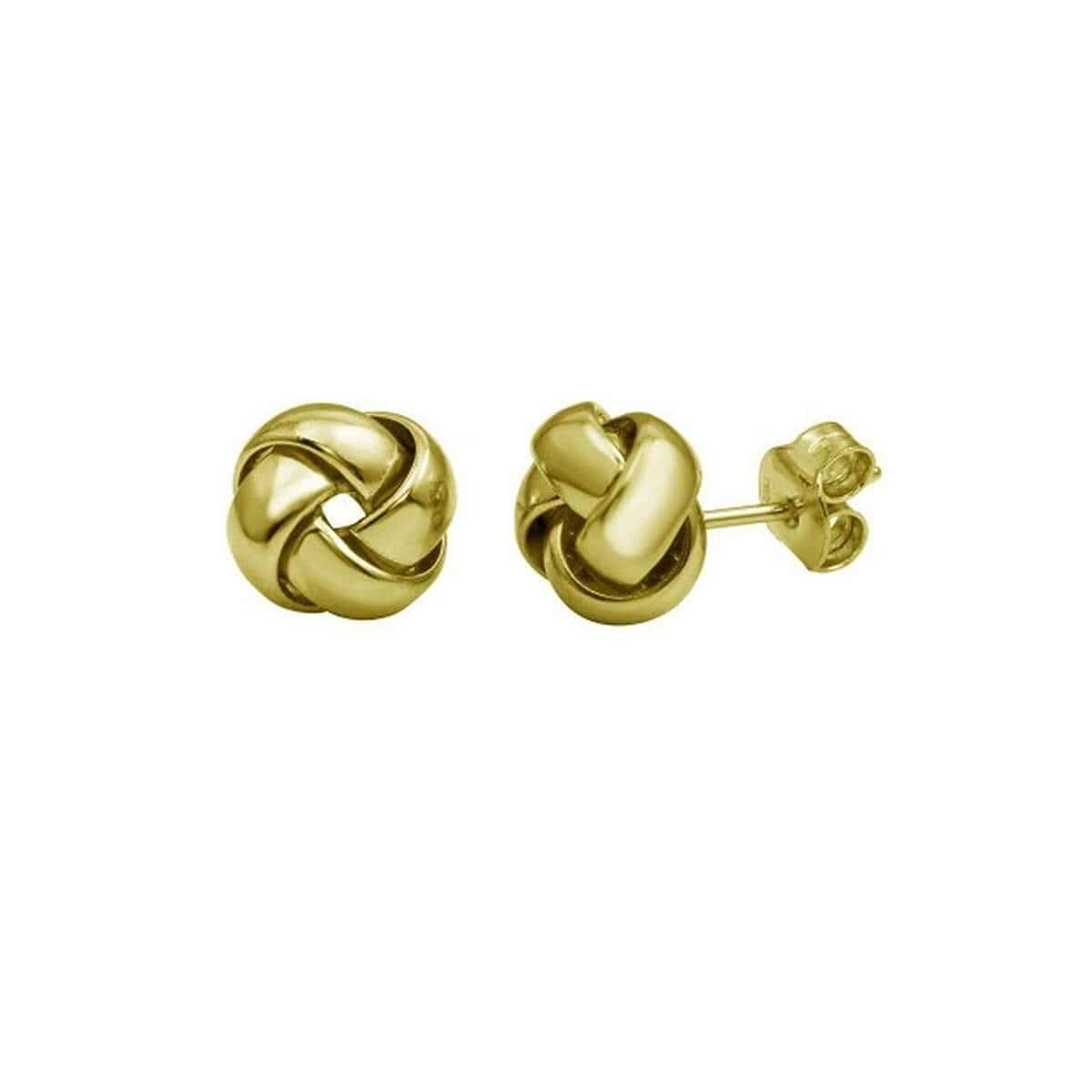 Yellow Gold Vermeil Love Knott Earrings