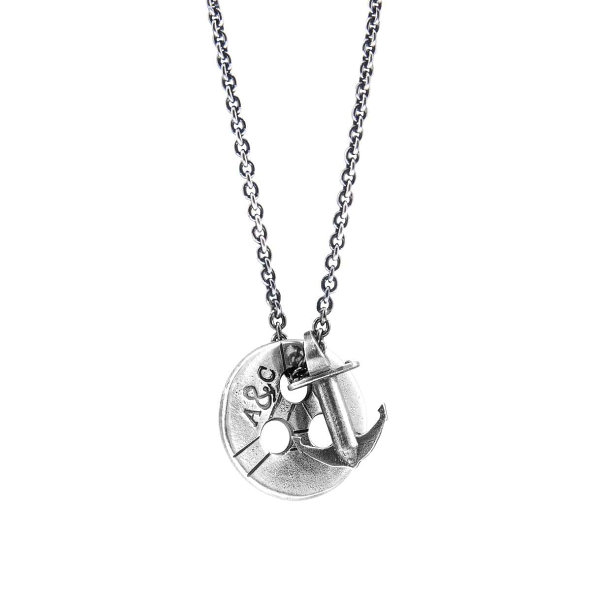 Lerwick Pulley Silver Necklace Pendant