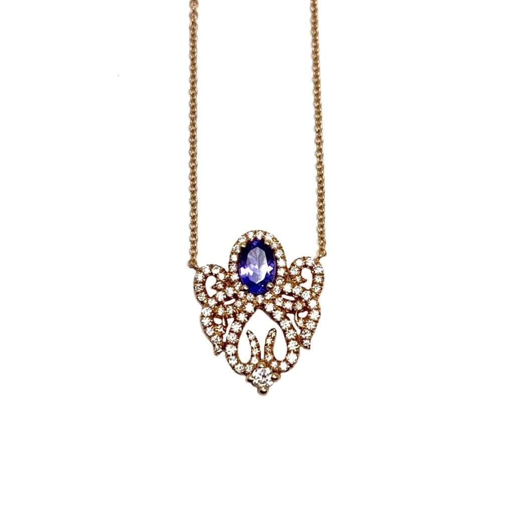 18kt Rose Gold Raga Necklace