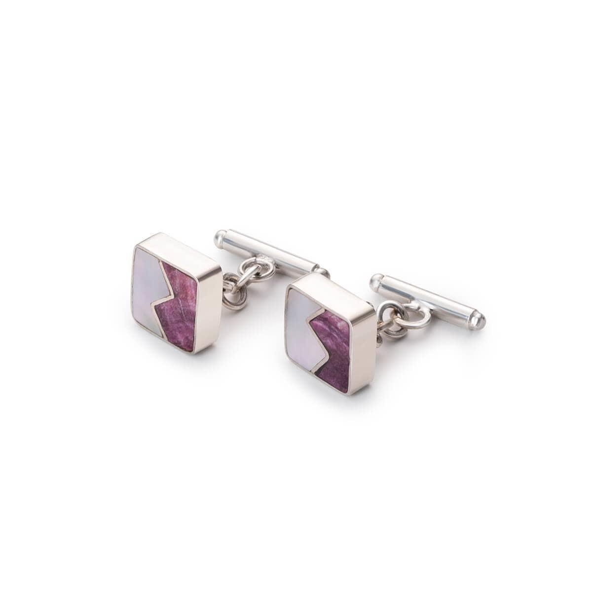 Sterling Silver Purple Signature Cufflinks
