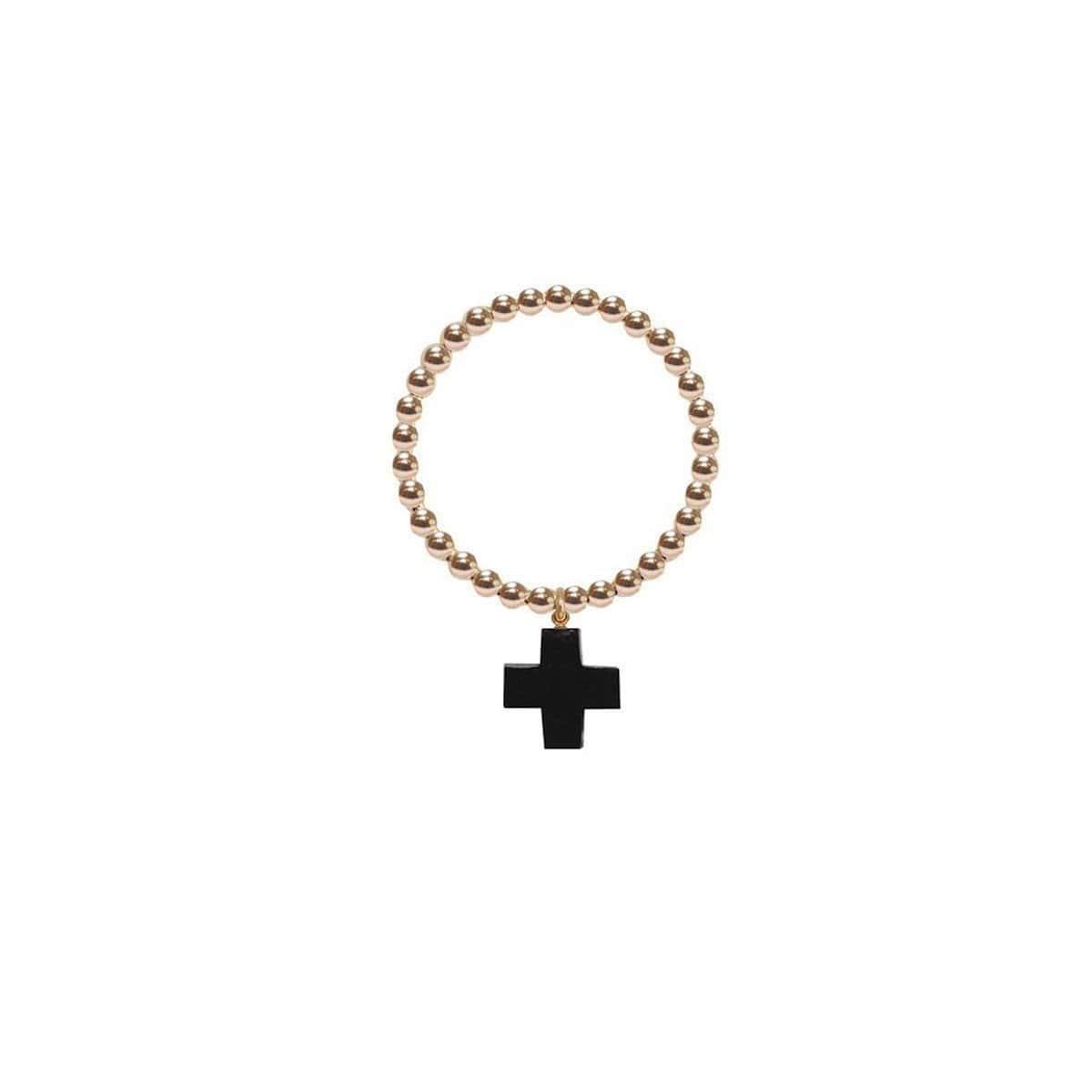 14kt Gold Buffalo Horn Cross Orb Ring
