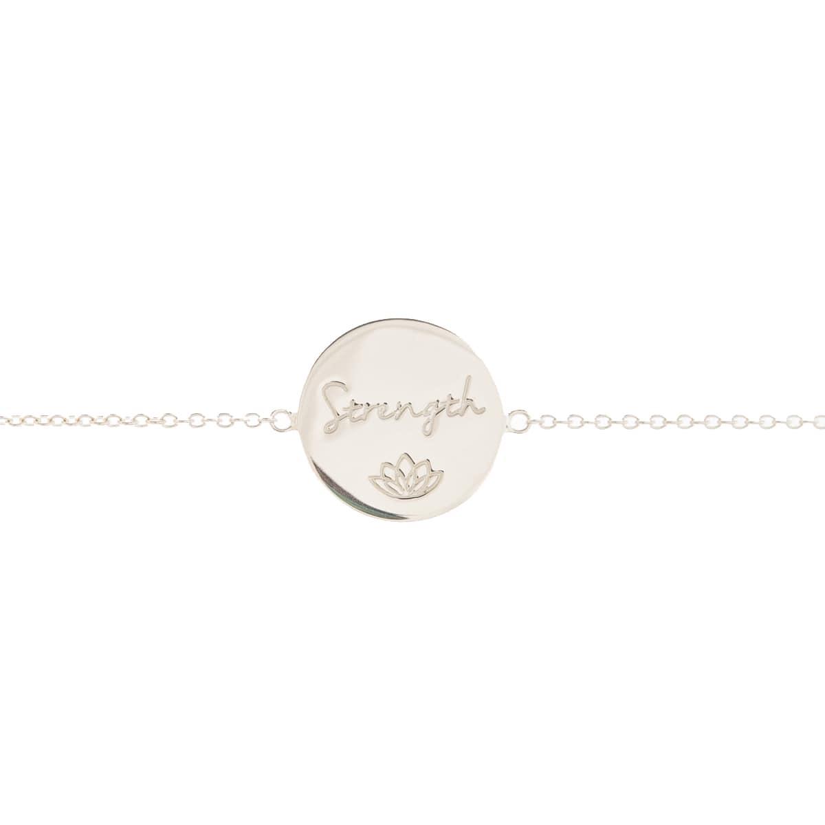 Sterling Silver Strength Disc Bracelet