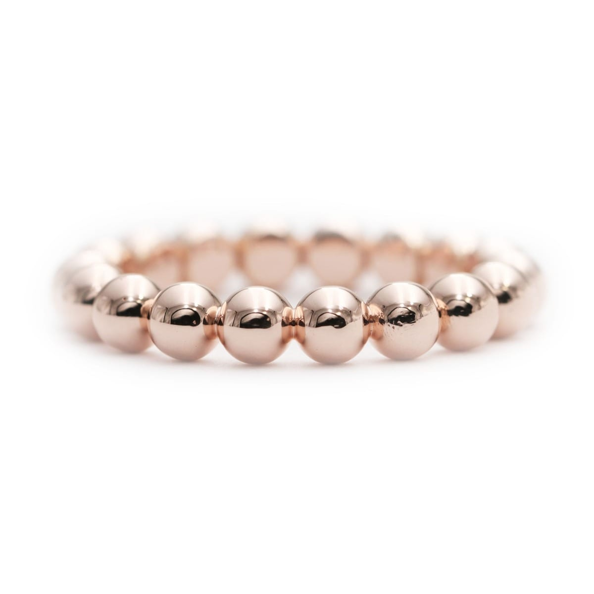 14kt Gold Bead Band Ring