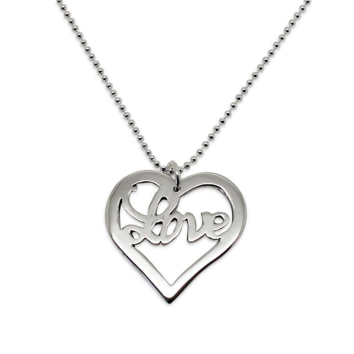 Sterling Silver Heart of Love Necklace