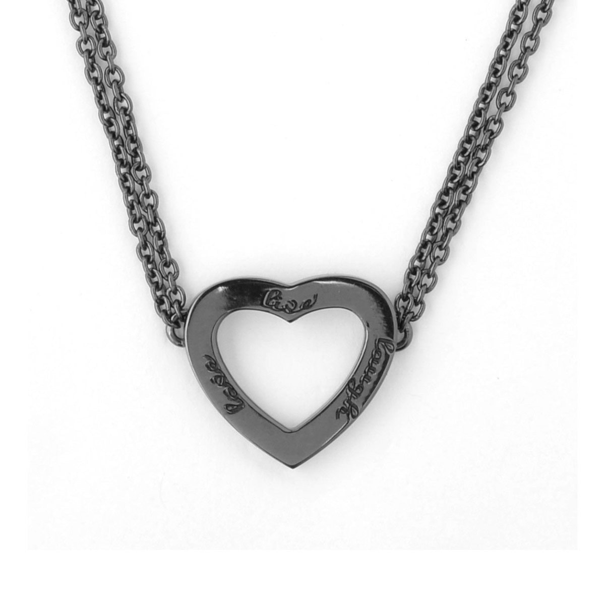 Black Rhodium Live Laugh Love Necklace