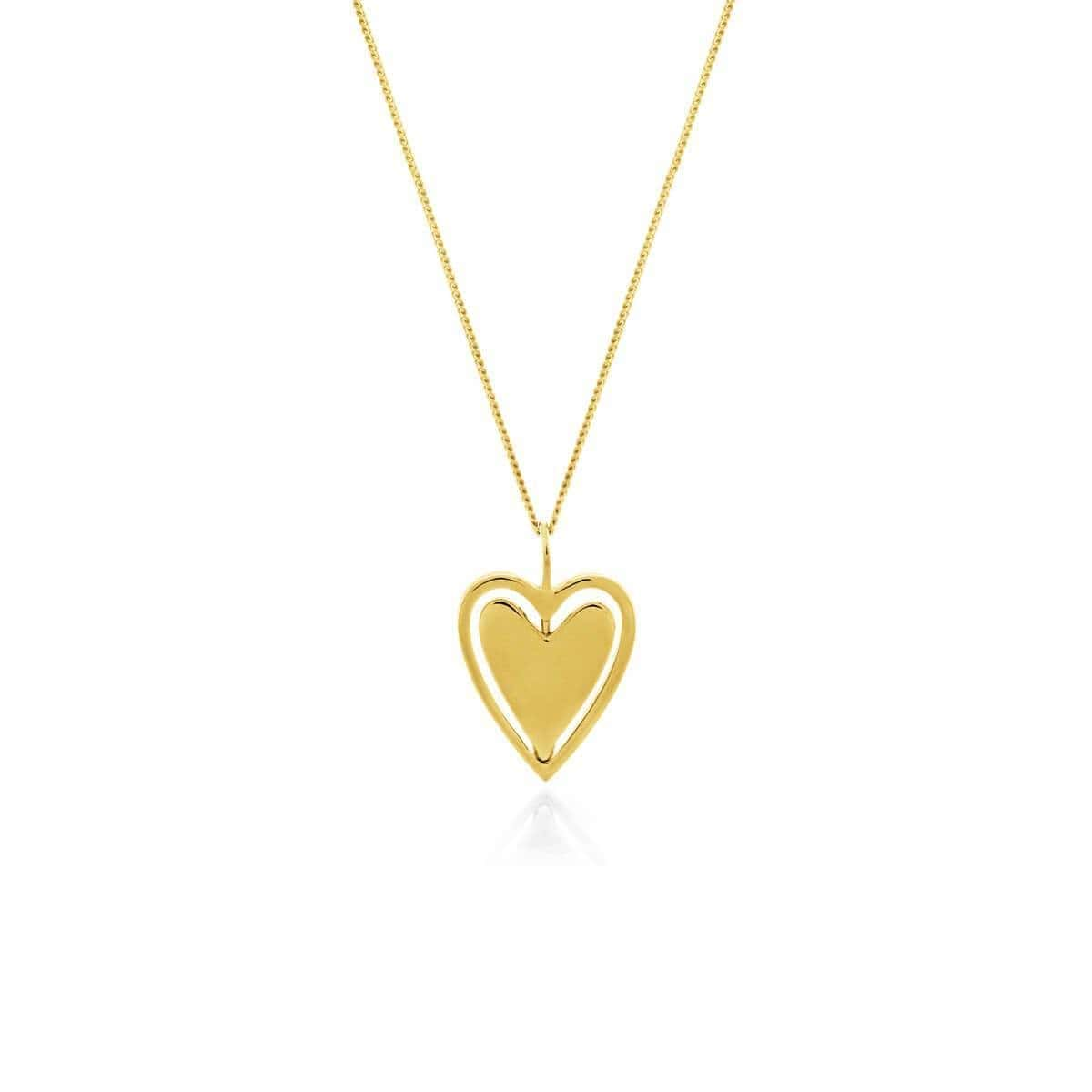 Yellow Gold Plated Spin Me Round Necklace