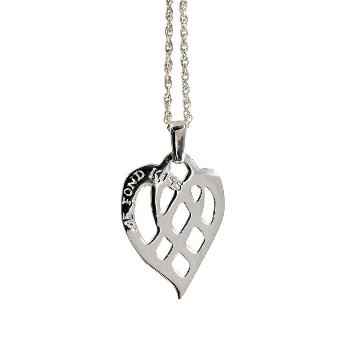 Sterling Silver Ae Fond Kiss Pendant Necklace