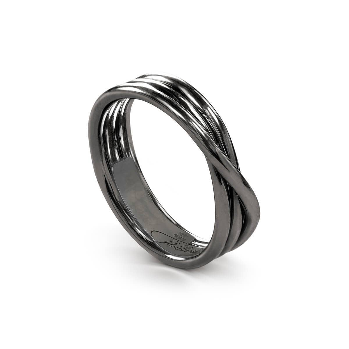 Sterling Silver Rock Argento Brunito 3 Ring