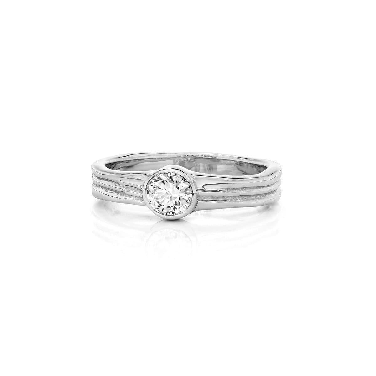 Waterfall Wedding/Engagement Ring White Gold
