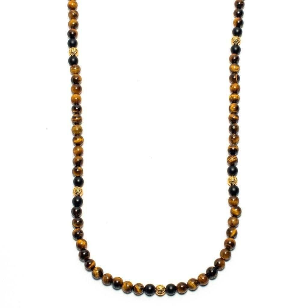 Tiger Eye Gold Necklace