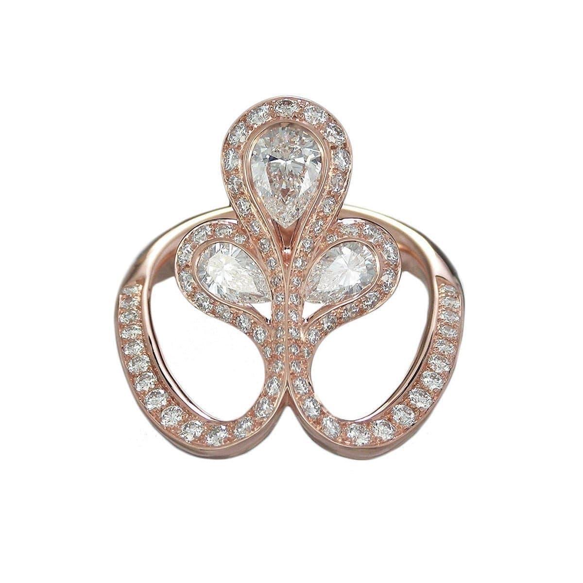 Rose Gold & Diamond Royale Flower Ring | Baenteli