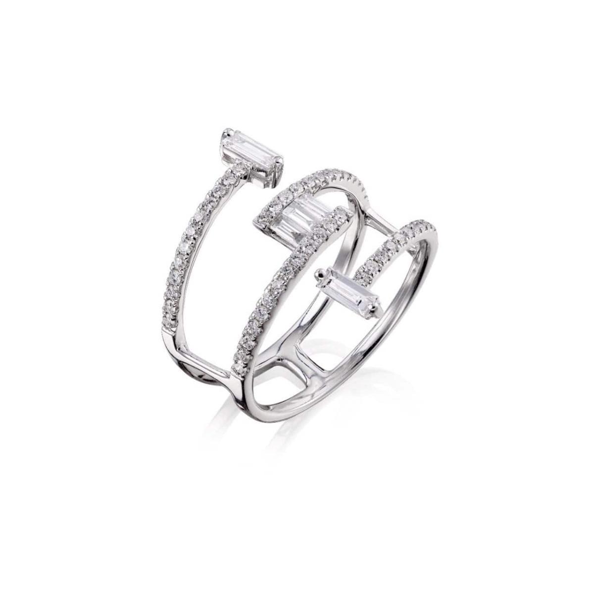 18kt White Gold Mode Ring l