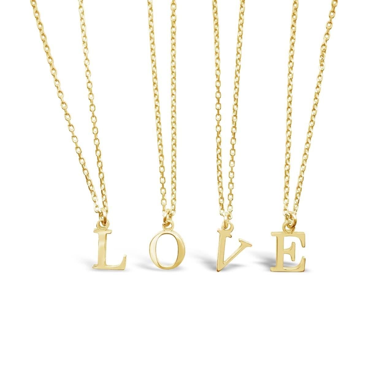 Gold Vermeil Initial Charm Necklace