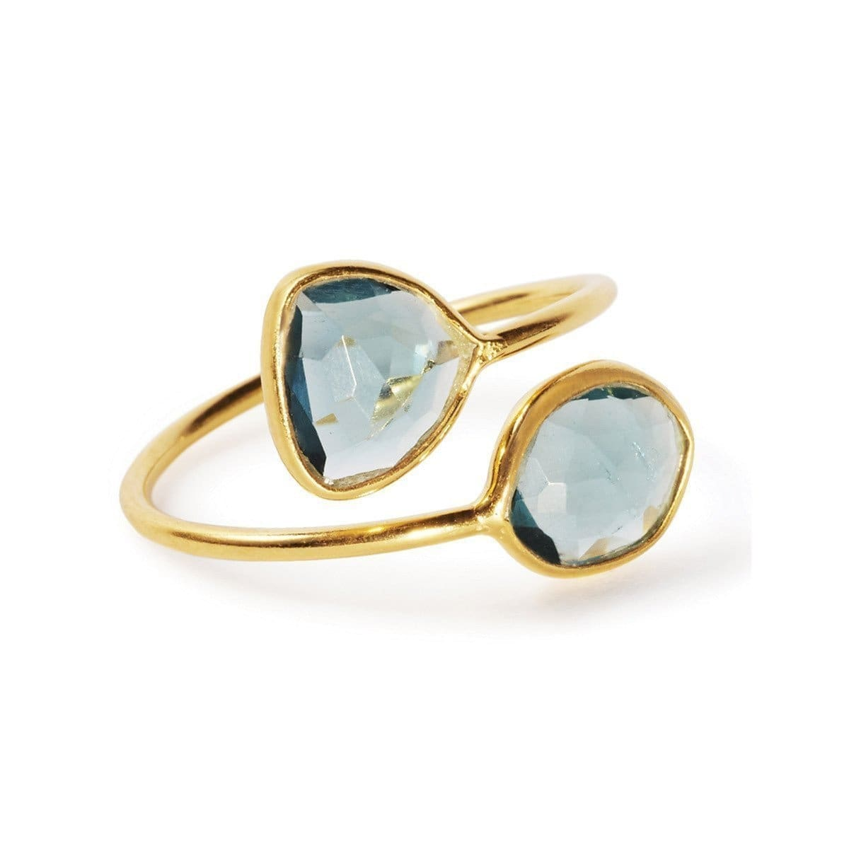 The Gemini Ring With London Topaz