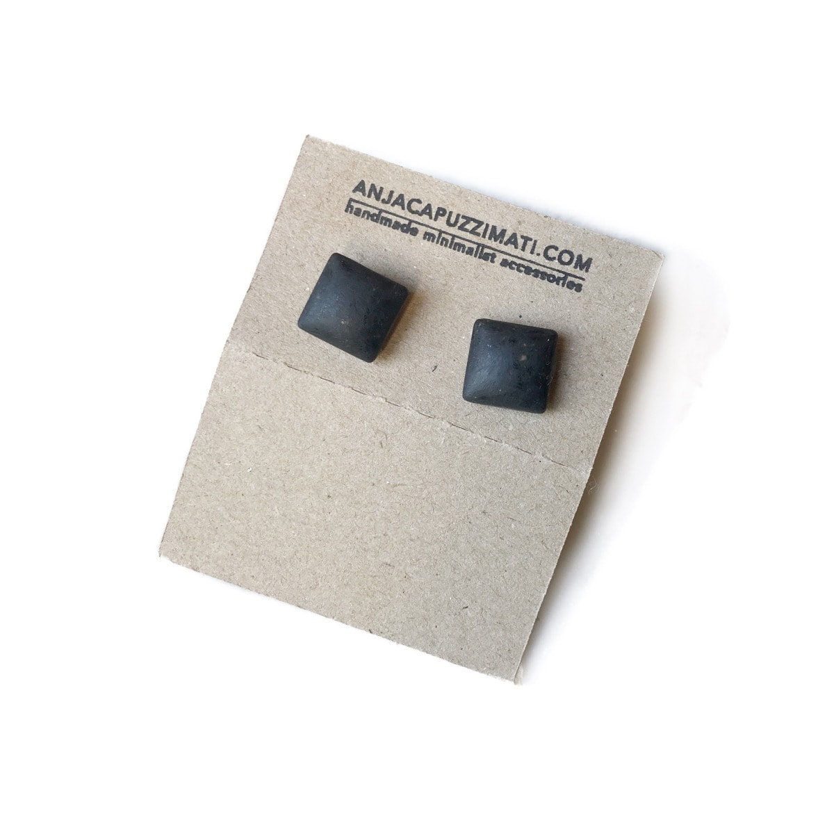 Concrete Minimalist Large Square Cufflinks